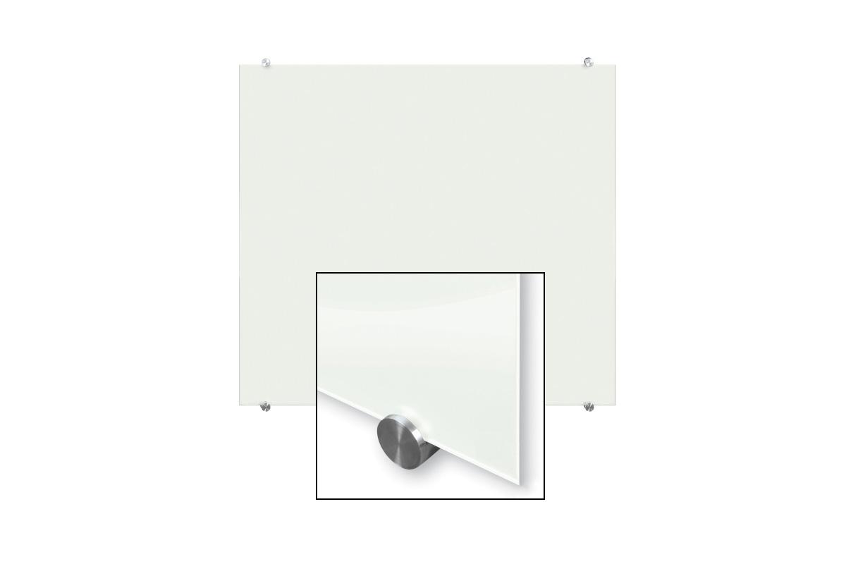 Bardzo dobra Szklana tablica magnetyczna biała 100x100 ALLboards - sklep z ND26